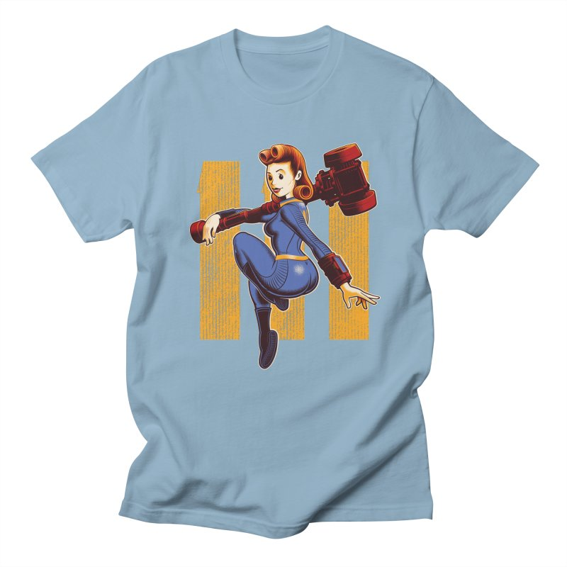 Vault Girl Men's Regular T-Shirt by Leon's Artist Shop