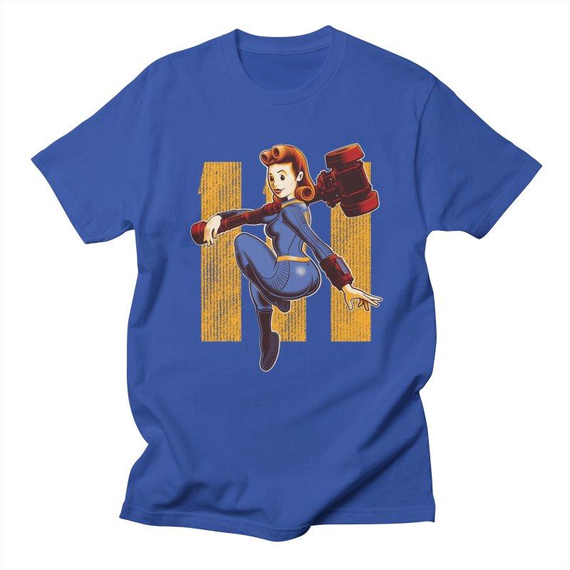 Vault Girl Men's Regular T-Shirt by Leon's Artist Shop