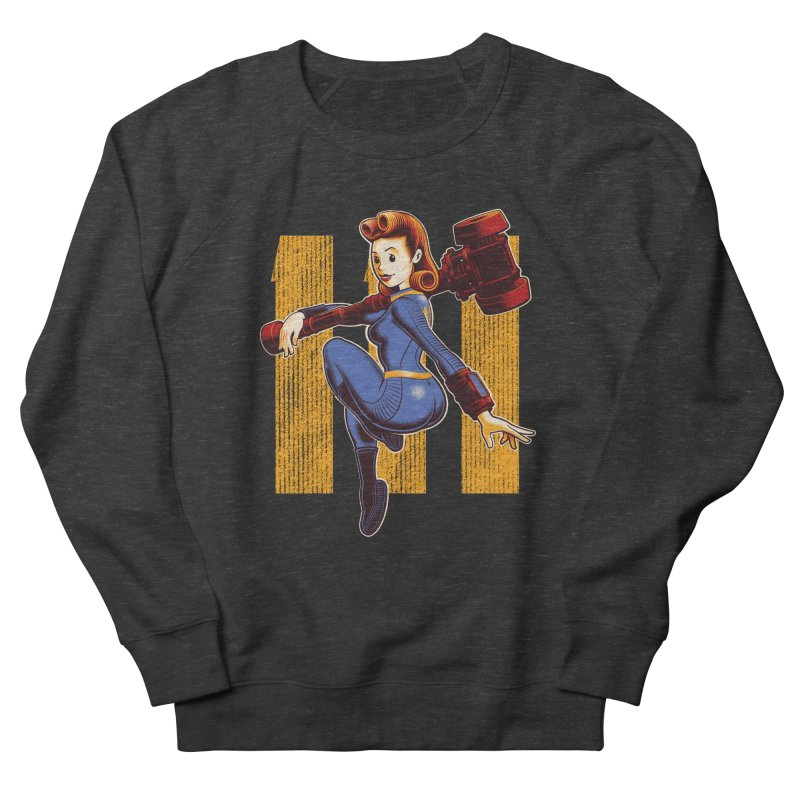 Vault Girl Men's French Terry Sweatshirt by Leon's Artist Shop