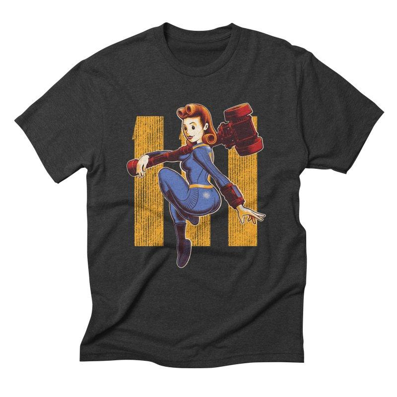 Vault Girl Men's Triblend T-Shirt by Leon's Artist Shop