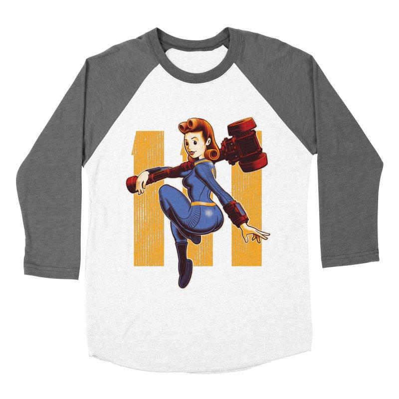 Vault Girl Women's Baseball Triblend Longsleeve T-Shirt by Leon's Artist Shop