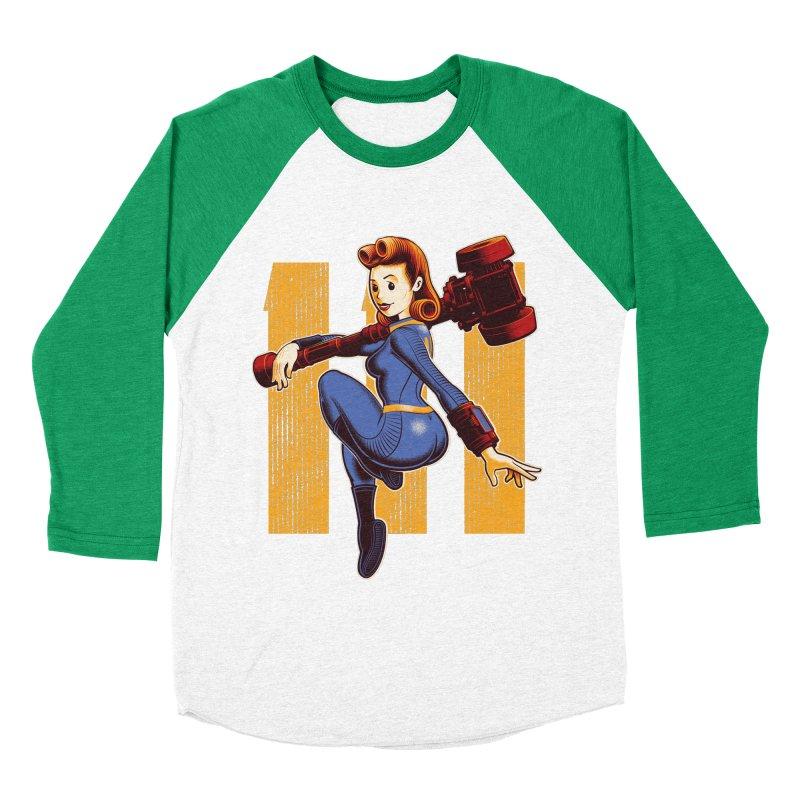 Vault Girl Women's Baseball Triblend T-Shirt by Leon's Artist Shop