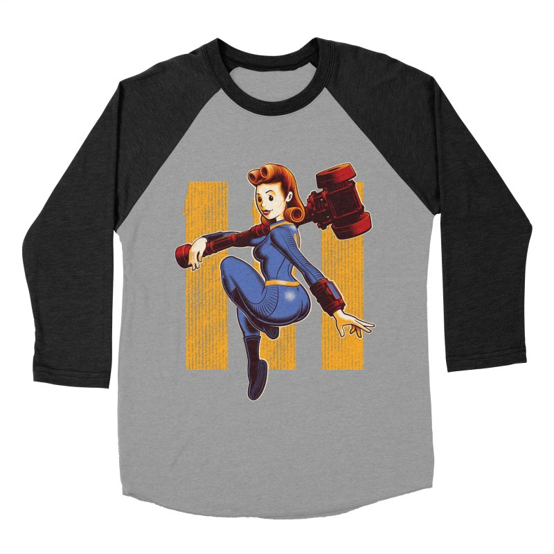 Vault Girl Men's Baseball Triblend Longsleeve T-Shirt by Leon's Artist Shop
