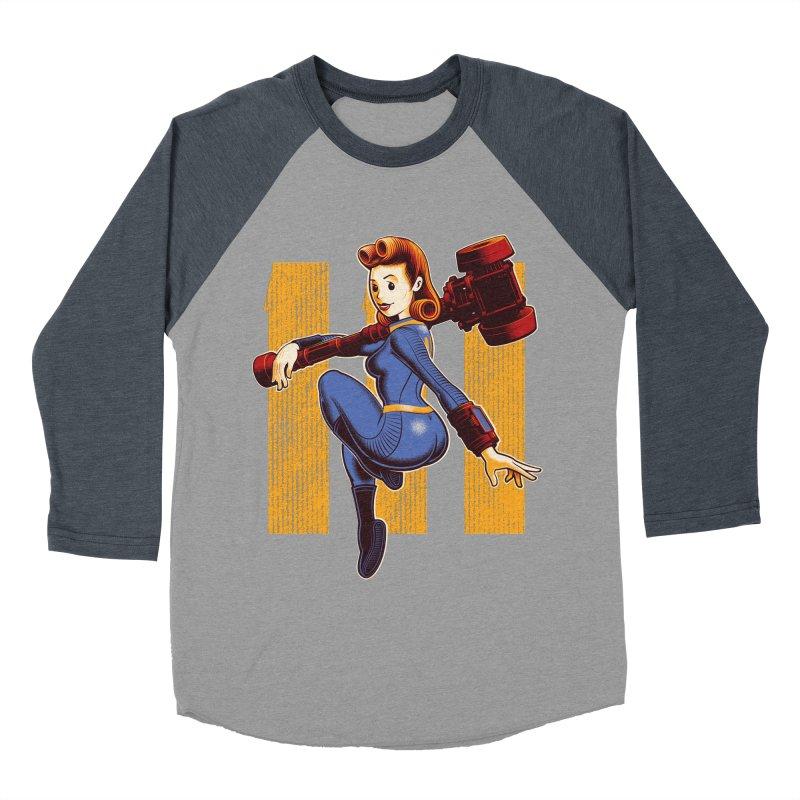 Vault Girl Men's Baseball Triblend Longsleeve T-Shirt by Leon's Artist Shop