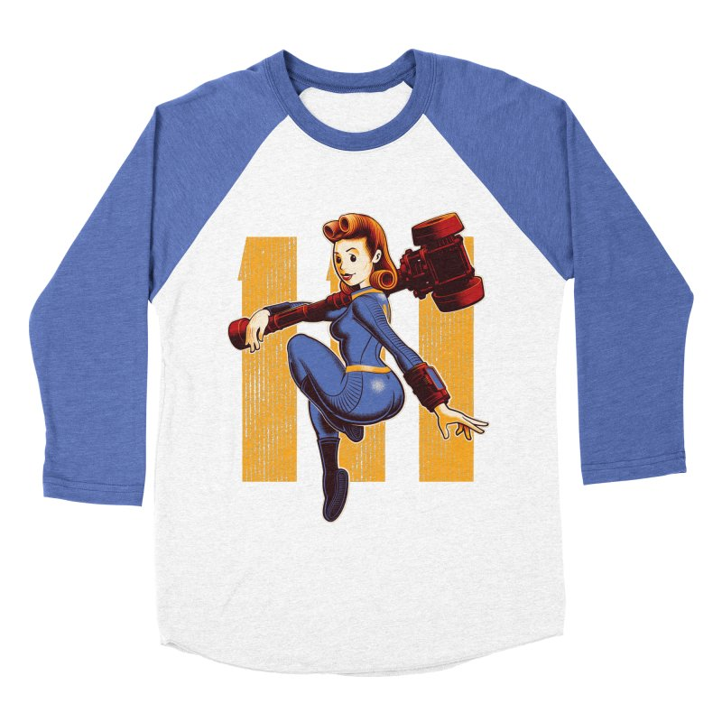 Vault Girl Men's Baseball Triblend T-Shirt by Leon's Artist Shop