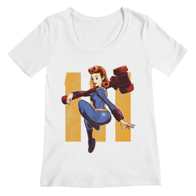 Vault Girl Women's Regular Scoop Neck by Leon's Artist Shop