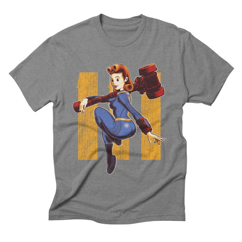 Vault Girl Men's Triblend T-shirt by Leon's Artist Shop
