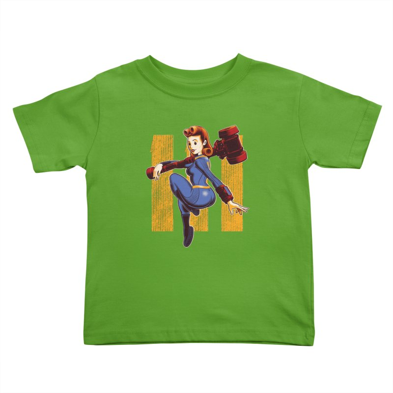 Vault Girl Kids Toddler T-Shirt by Leon's Artist Shop