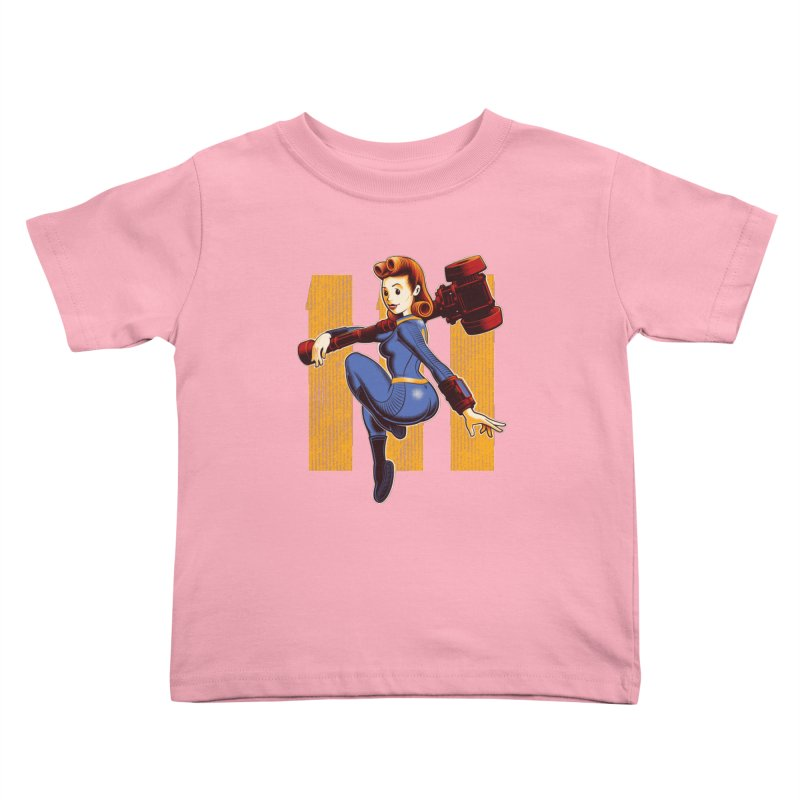 Vault Girl Kids Toddler T-Shirt by Leon's Artist Shop