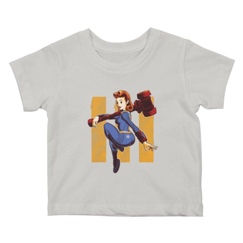 Vault Girl Kids Baby T-Shirt by Leon's Artist Shop