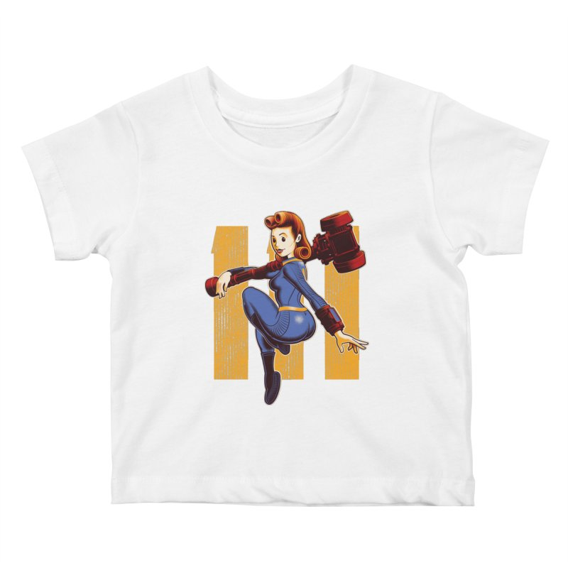 Vault Girl Kids Baby T-Shirt by Leon's Artist Shop