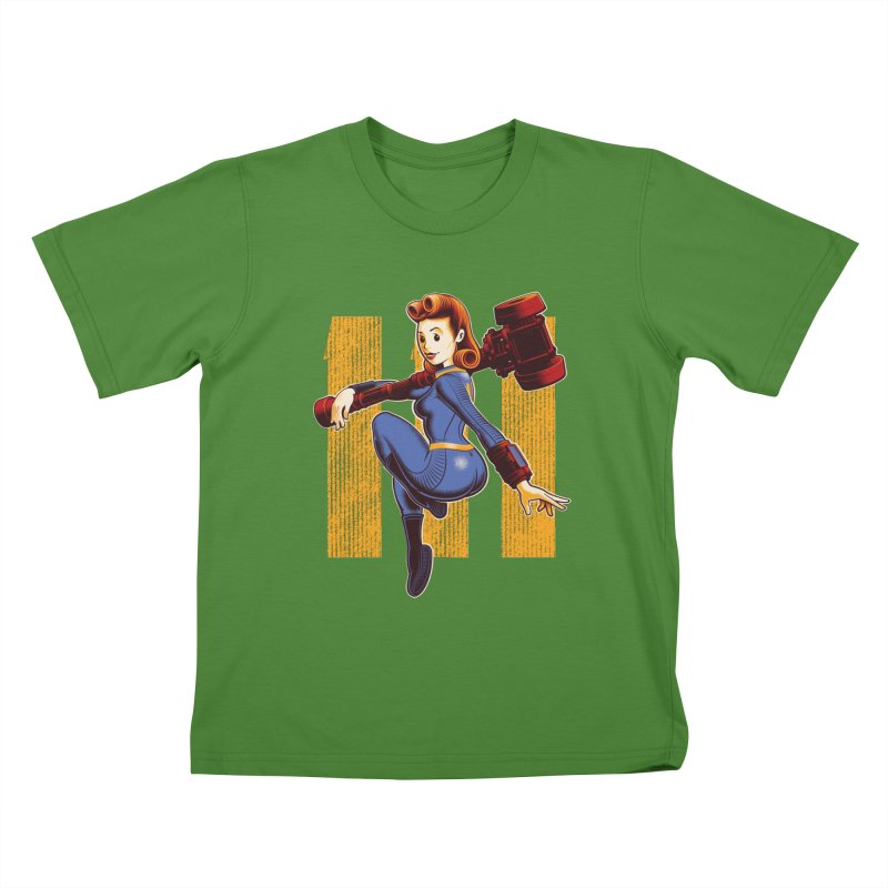 Vault Girl Kids T-Shirt by Leon's Artist Shop