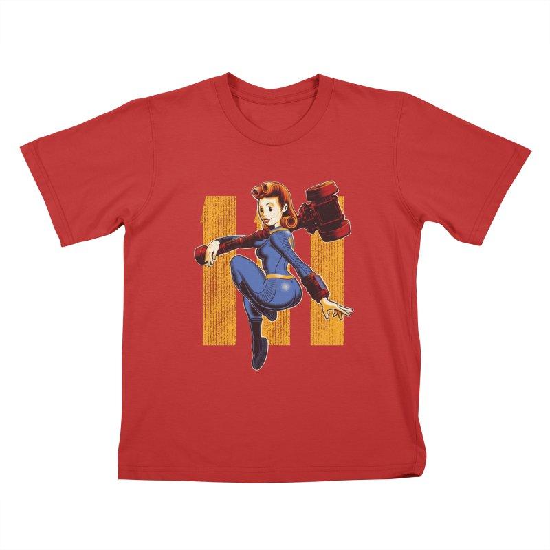 Vault Girl Kids T-shirt by Leon's Artist Shop