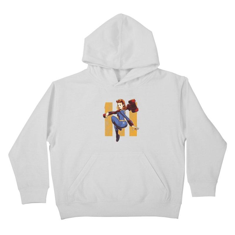 Vault Girl Kids Pullover Hoody by Leon's Artist Shop