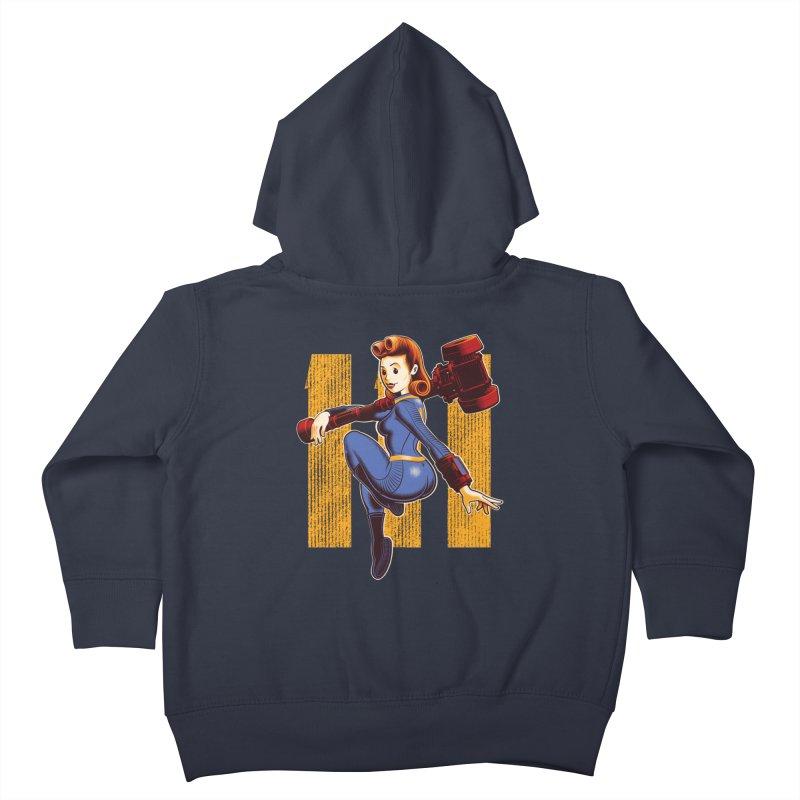 Vault Girl Kids Toddler Zip-Up Hoody by Leon's Artist Shop