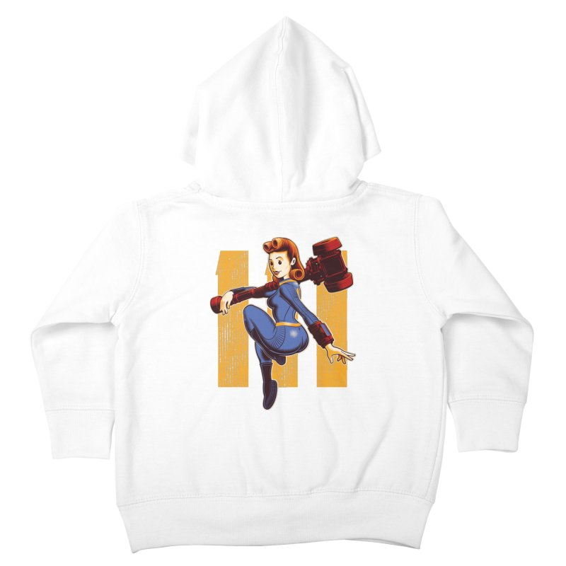 Vault Girl Kids Toddler Zip-Up Hoody by Leon's Artist Shop