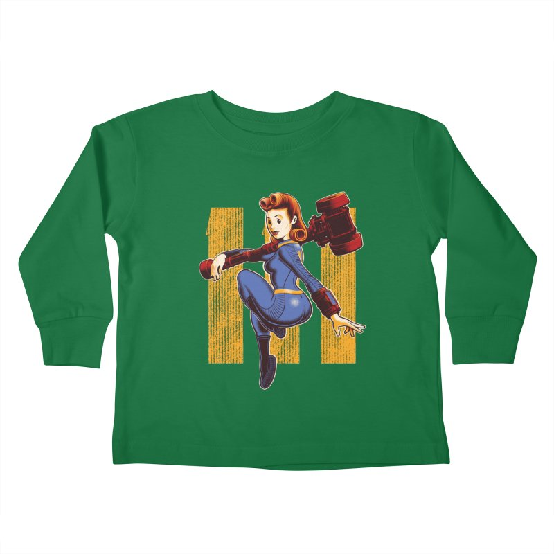 Vault Girl Kids Toddler Longsleeve T-Shirt by Leon's Artist Shop
