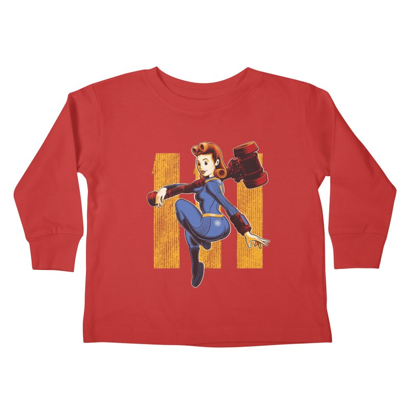 Vault Girl Kids Toddler Longsleeve T-Shirt by Leon's Artist Shop