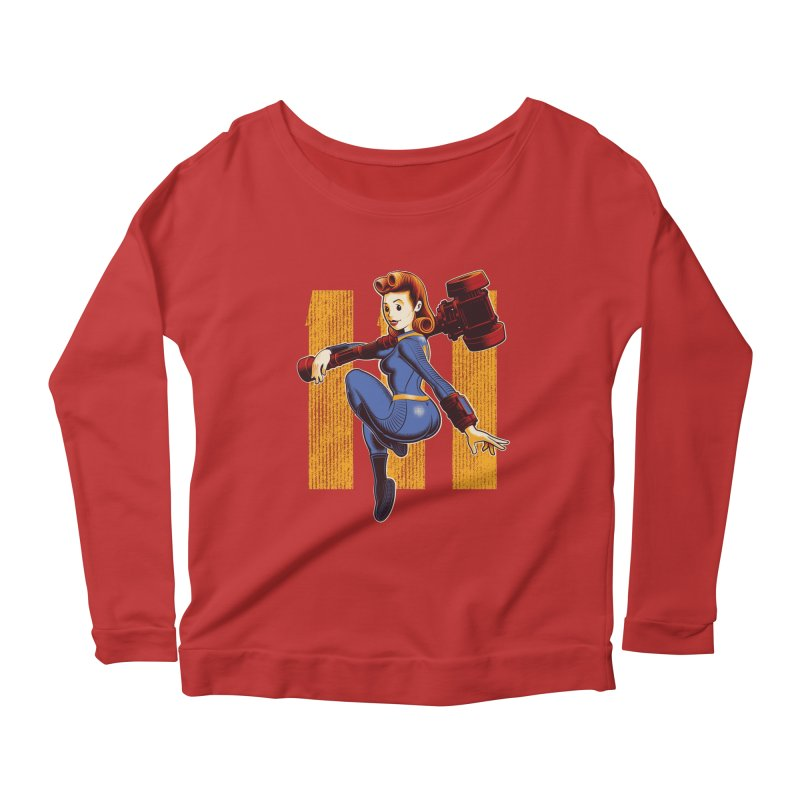 Vault Girl Women's Scoop Neck Longsleeve T-Shirt by Leon's Artist Shop