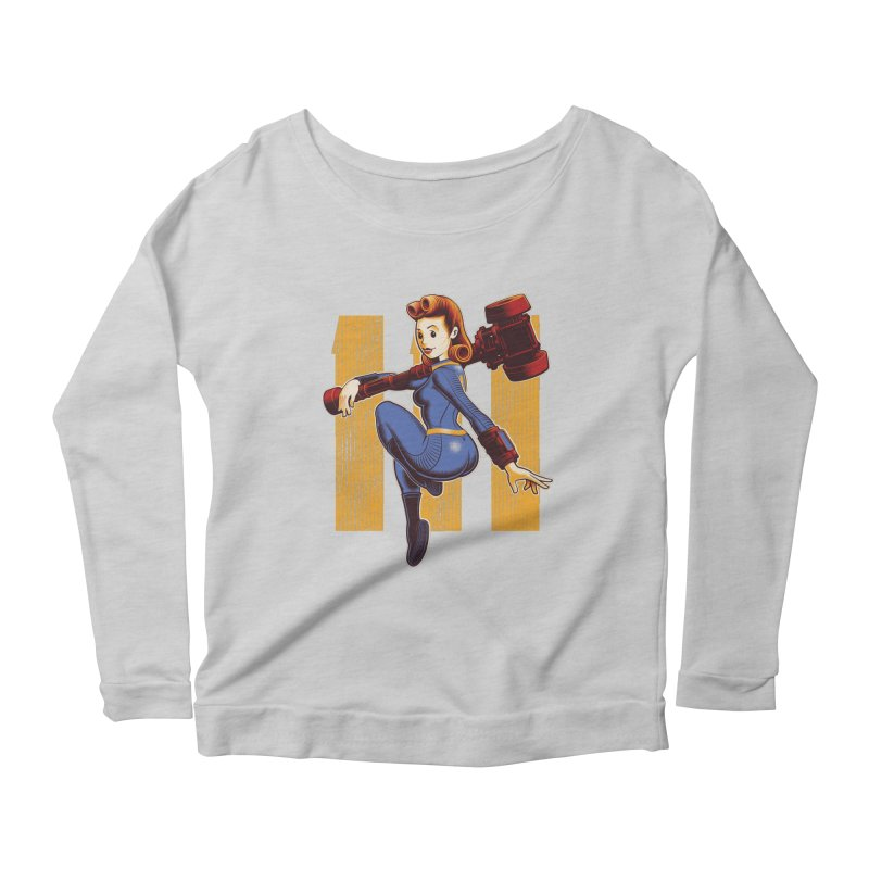 Vault Girl Women's Scoop Neck Longsleeve T-Shirt by Leon's Artist Shop