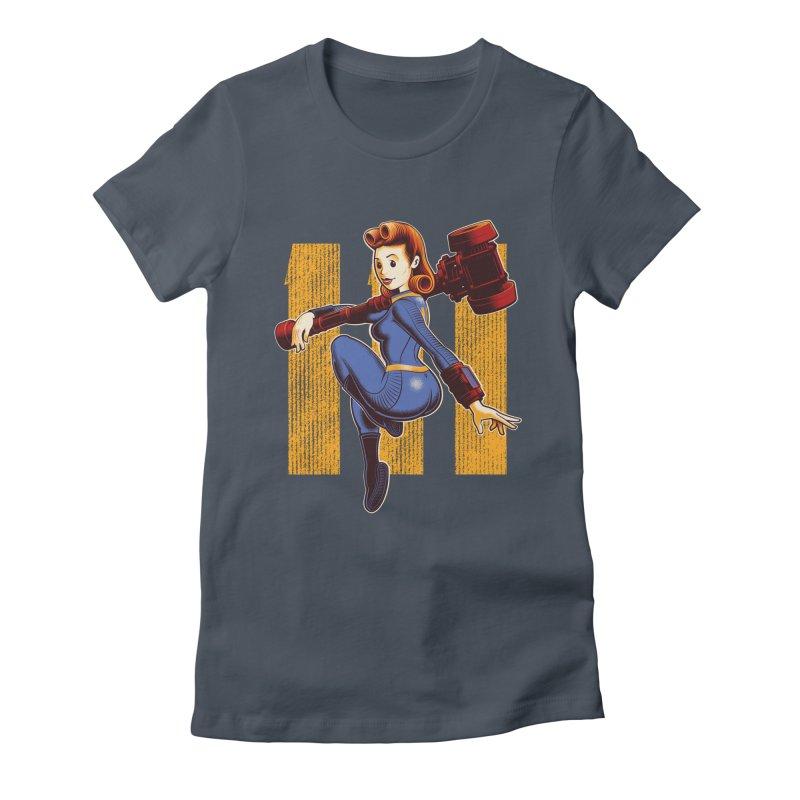 Vault Girl Women's Fitted T-Shirt by Leon's Artist Shop