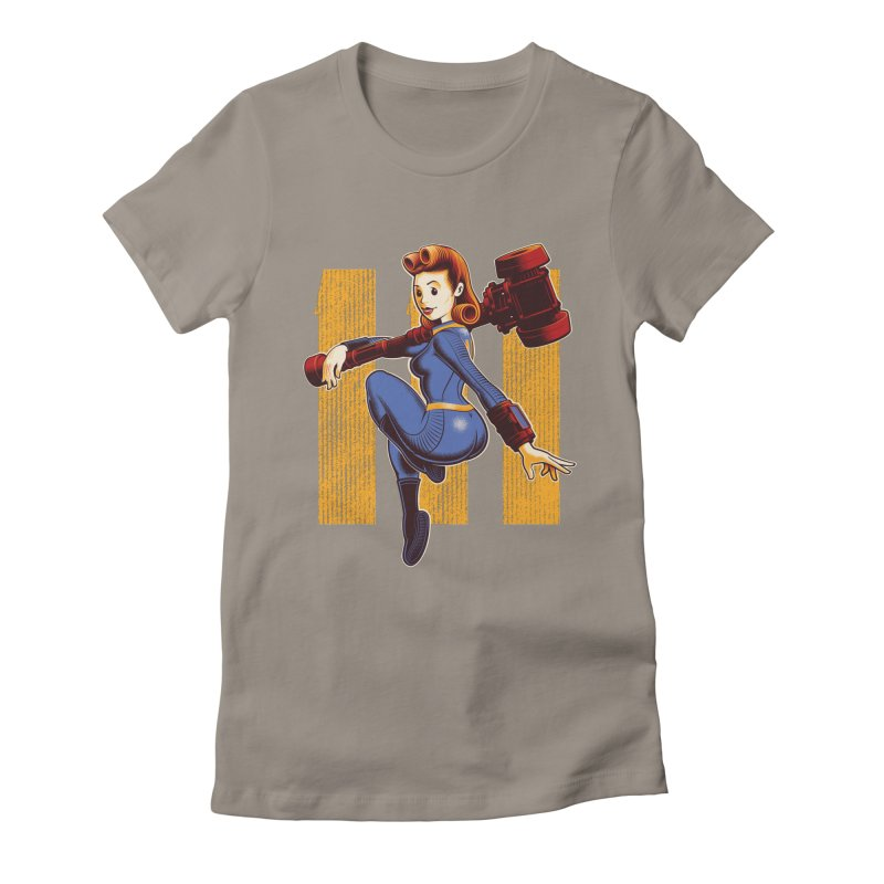 Vault Girl Women's Fitted T-Shirt by Leon's Artist Shop