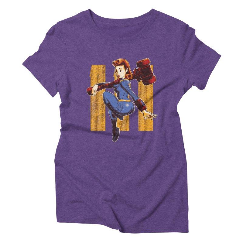 Vault Girl Women's Triblend T-Shirt by Leon's Artist Shop