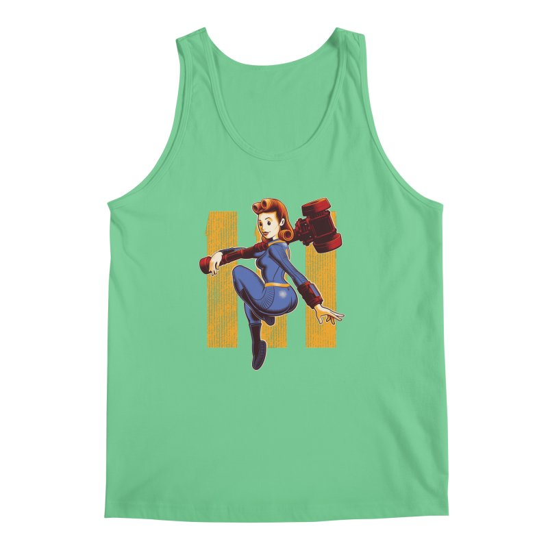 Vault Girl Men's Regular Tank by Leon's Artist Shop