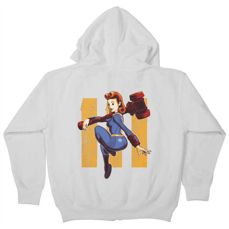 Vault Girl Kids Zip-Up Hoody by Leon's Artist Shop