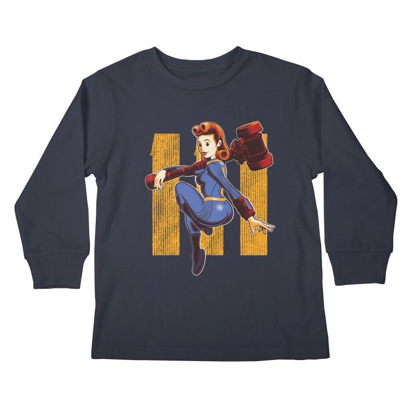 Vault Girl Kids Longsleeve T-Shirt by Leon's Artist Shop