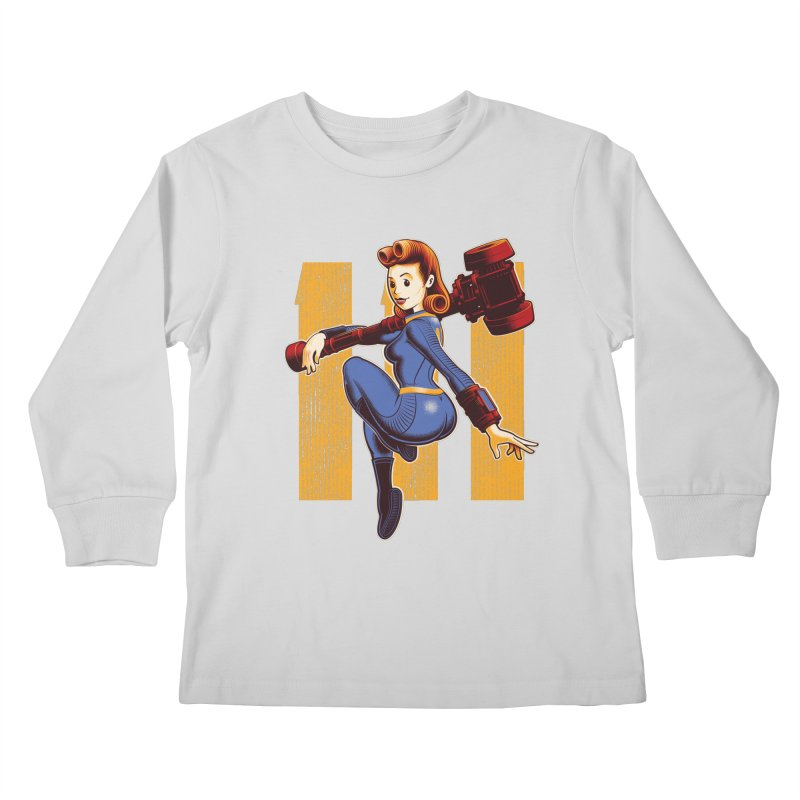 Vault Girl Kids Longsleeve T-Shirt by Leon's Artist Shop