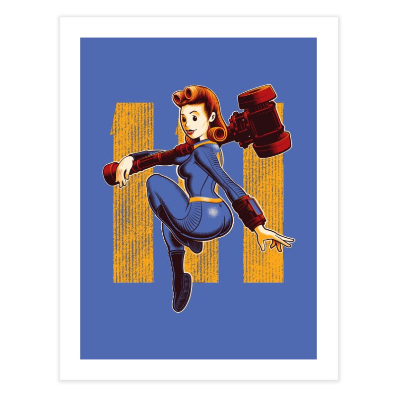 Vault Girl Home Fine Art Print by Leon's Artist Shop