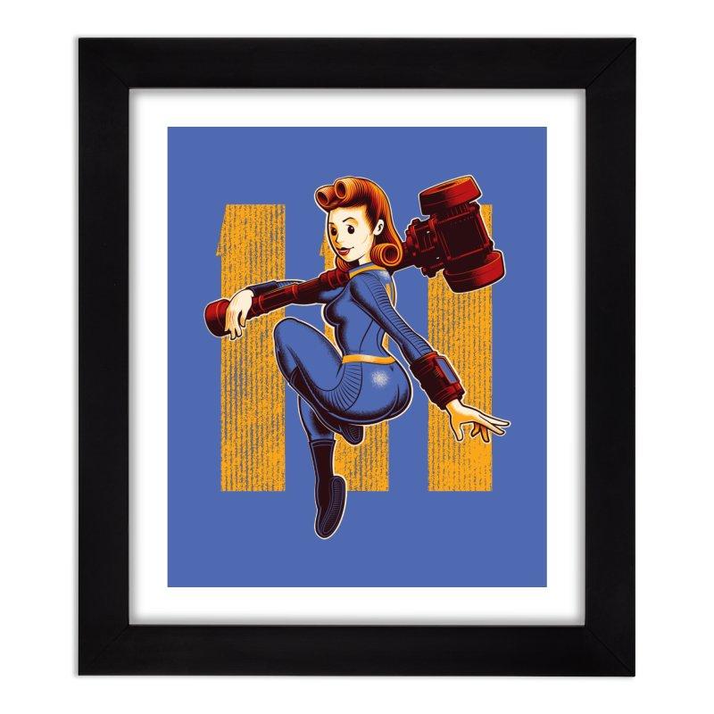 Vault Girl Home Framed Fine Art Print by Leon's Artist Shop
