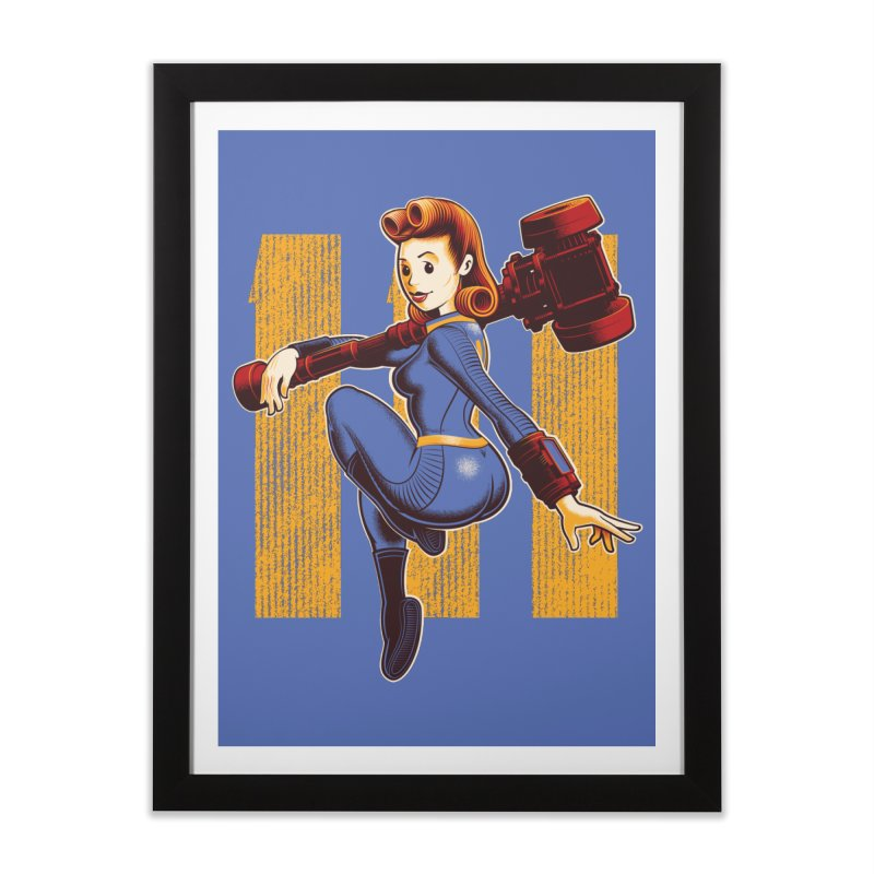 Vault Girl Home Framed Fine Art Print by Leon's Artist Shop