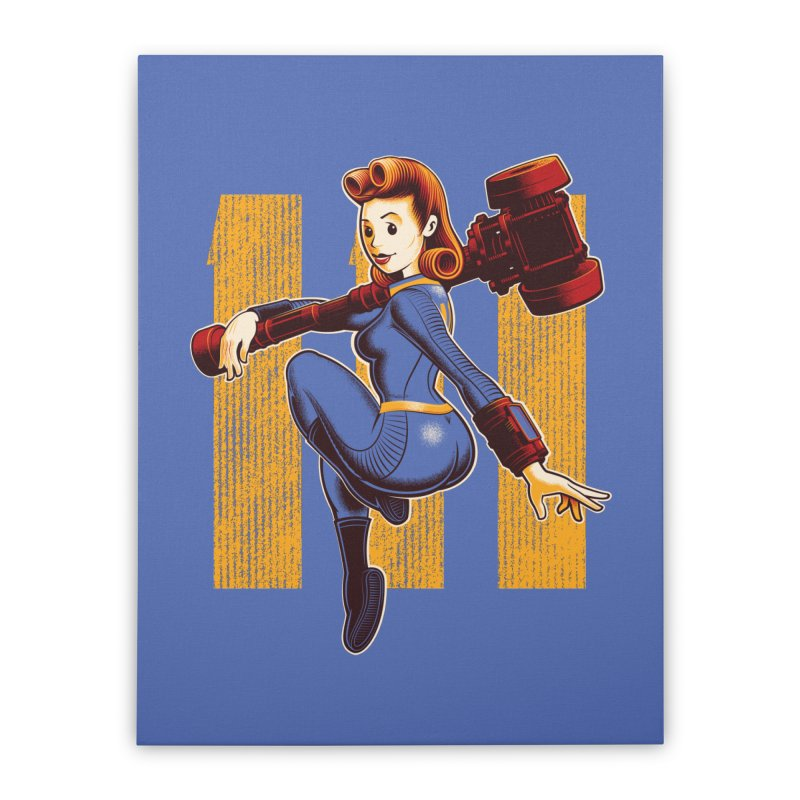 Vault Girl Home Stretched Canvas by Leon's Artist Shop