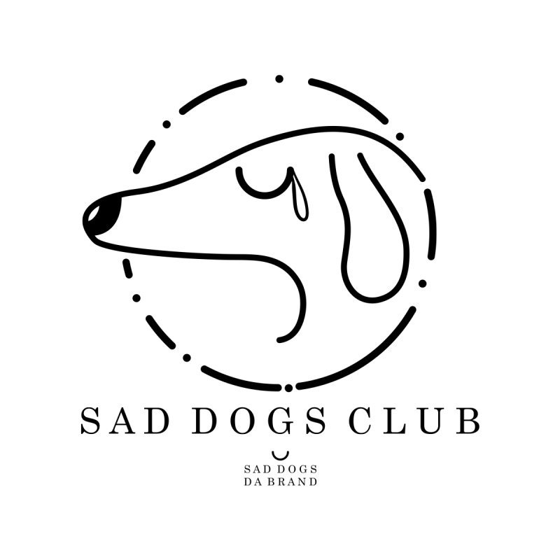 Sad Dogs - 001 Women's Fitted T-Shirt by leonardoantonio's Artist Shop