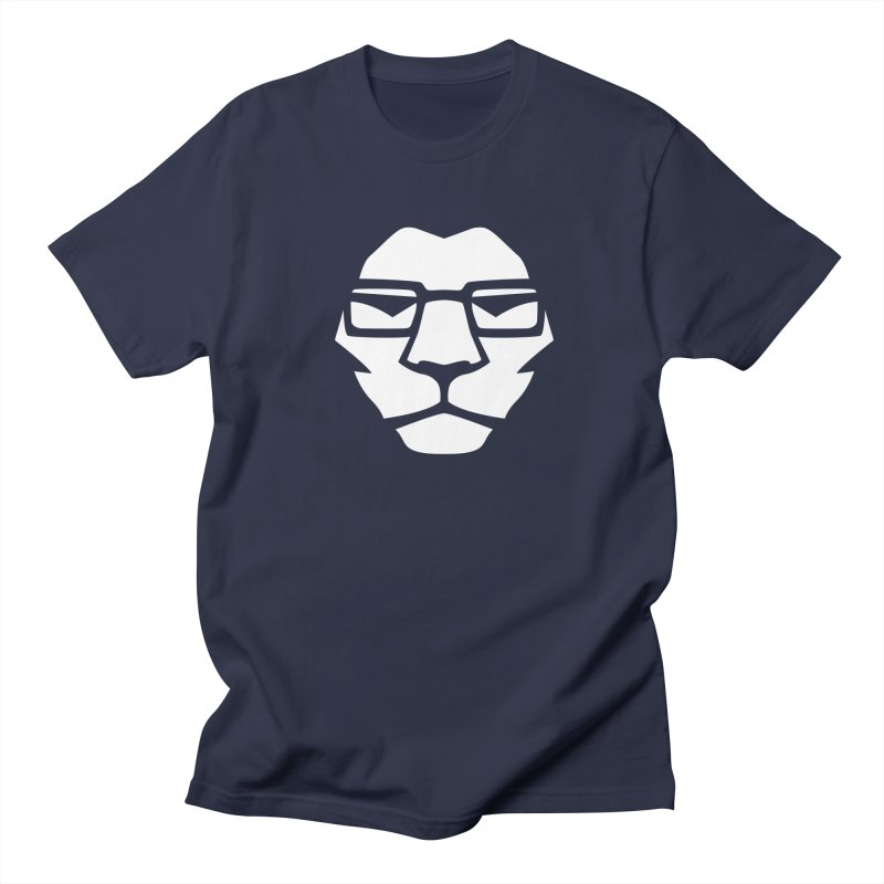 Mr. Lion in Men's T-shirt Navy by leonel's Artist Shop