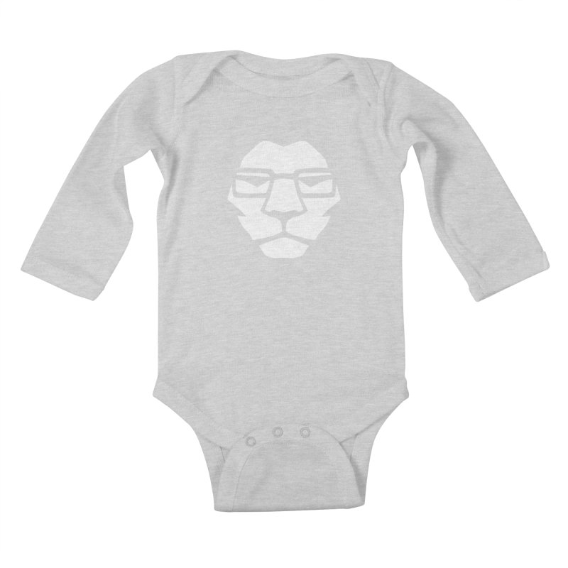 Mr. Lion Kids Baby Longsleeve Bodysuit by leonel's Artist Shop