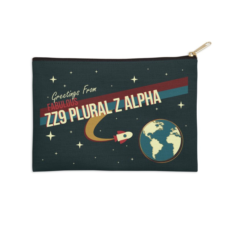 Hitchhiking The Galaxy Accessories Zip Pouch by Leonheart515's Designs