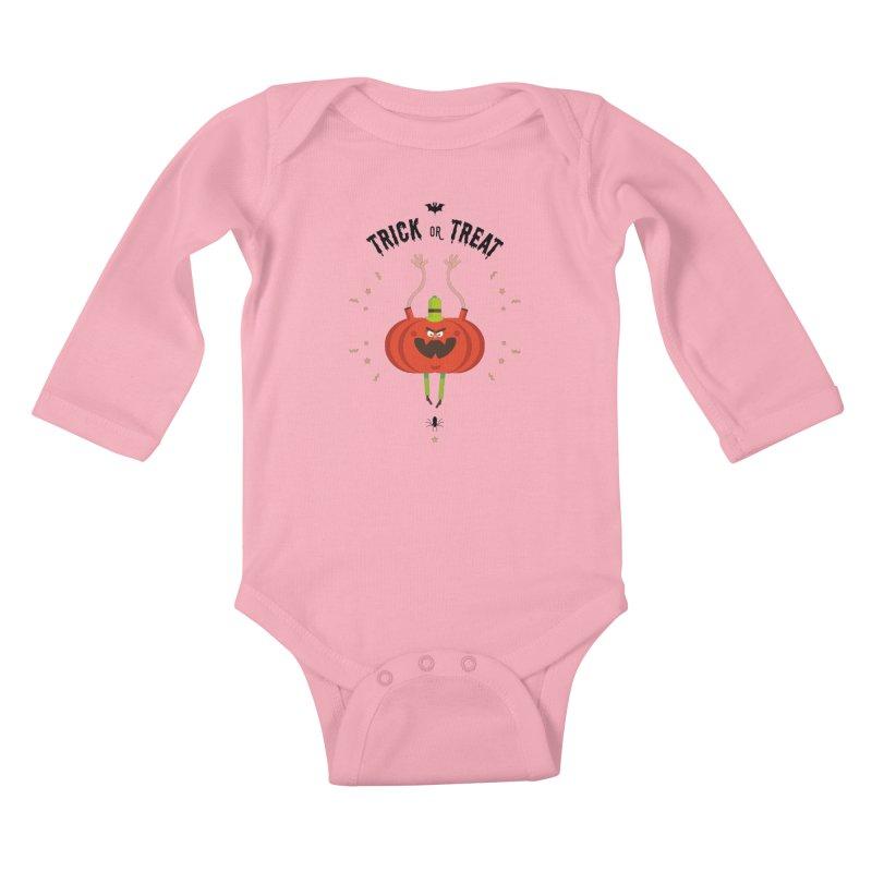 des bonbons ou un sort Kids Baby Longsleeve Bodysuit by lepetitcalamar's Artist Shop