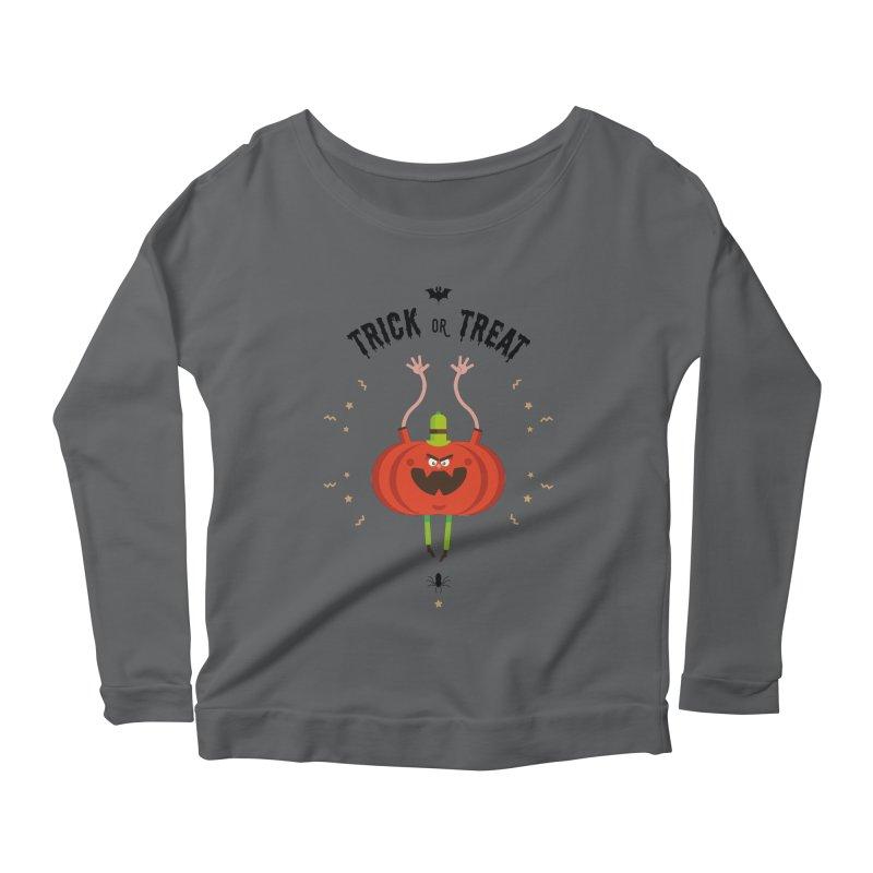 des bonbons ou un sort Women's Scoop Neck Longsleeve T-Shirt by lepetitcalamar's Artist Shop