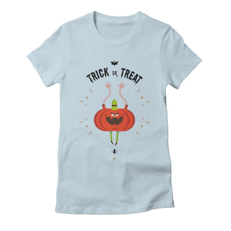 des bonbons ou un sort Women's Fitted T-Shirt by lepetitcalamar's Artist Shop