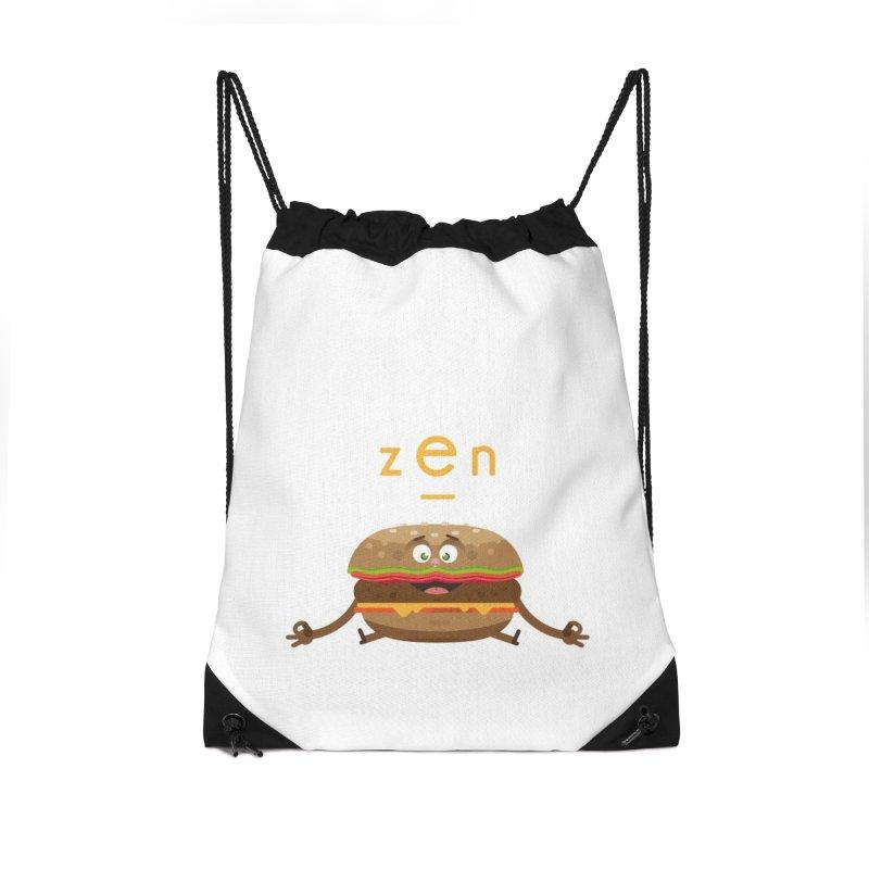 ZEN hamburger Accessories Drawstring Bag Bag by lepetitcalamar's Artist Shop