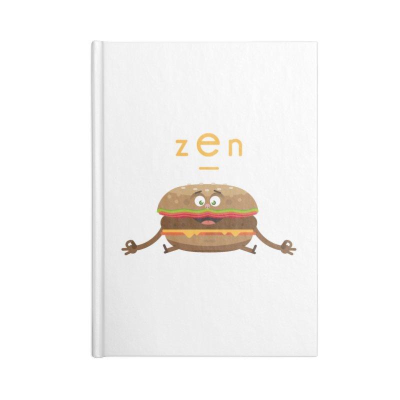 ZEN hamburger Accessories Lined Journal Notebook by lepetitcalamar's Artist Shop