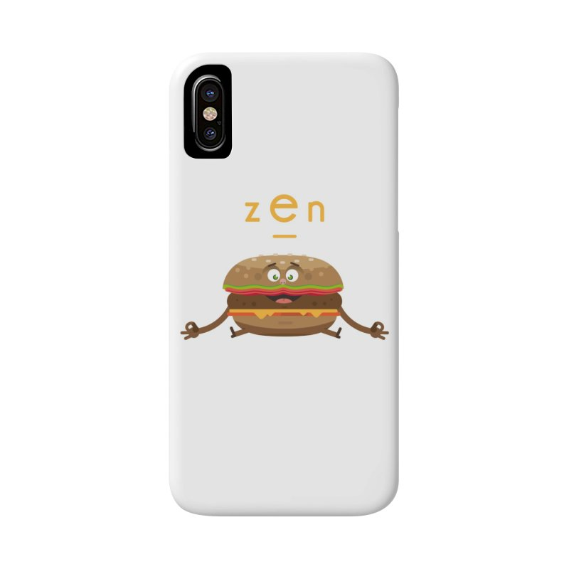 ZEN hamburger Accessories Phone Case by lepetitcalamar's Artist Shop