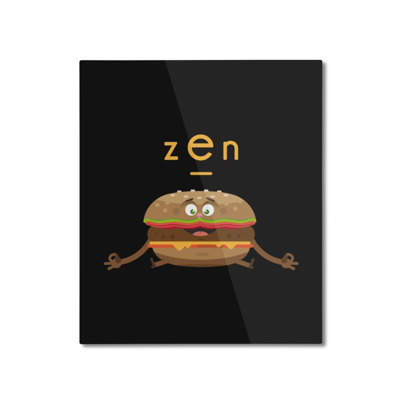 ZEN hamburger Home Mounted Aluminum Print by lepetitcalamar's Artist Shop