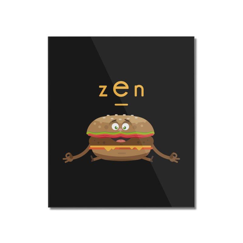 ZEN hamburger Home Mounted Acrylic Print by lepetitcalamar's Artist Shop