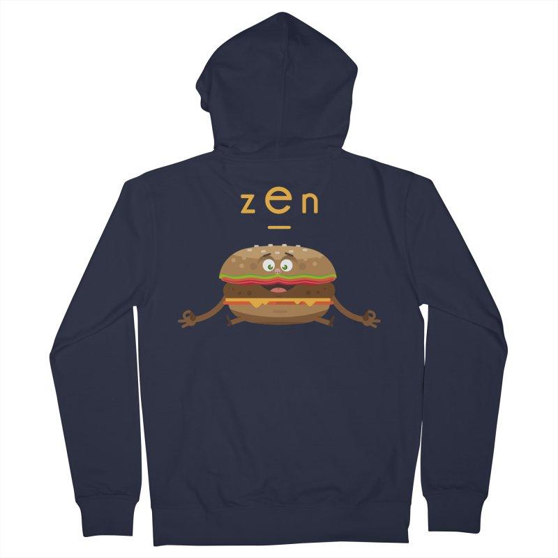 ZEN hamburger Women's Zip-Up Hoody by lepetitcalamar's Artist Shop