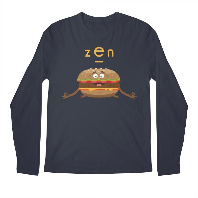 ZEN hamburger Men's Longsleeve T-Shirt by lepetitcalamar's Artist Shop