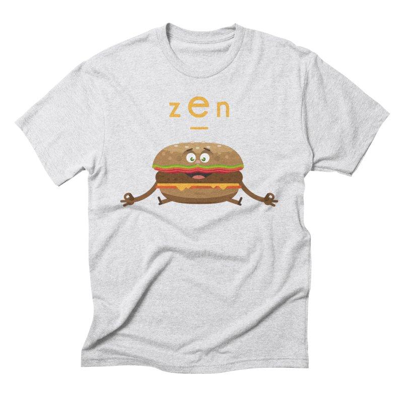 ZEN hamburger Men's Triblend T-shirt by lepetitcalamar's Artist Shop